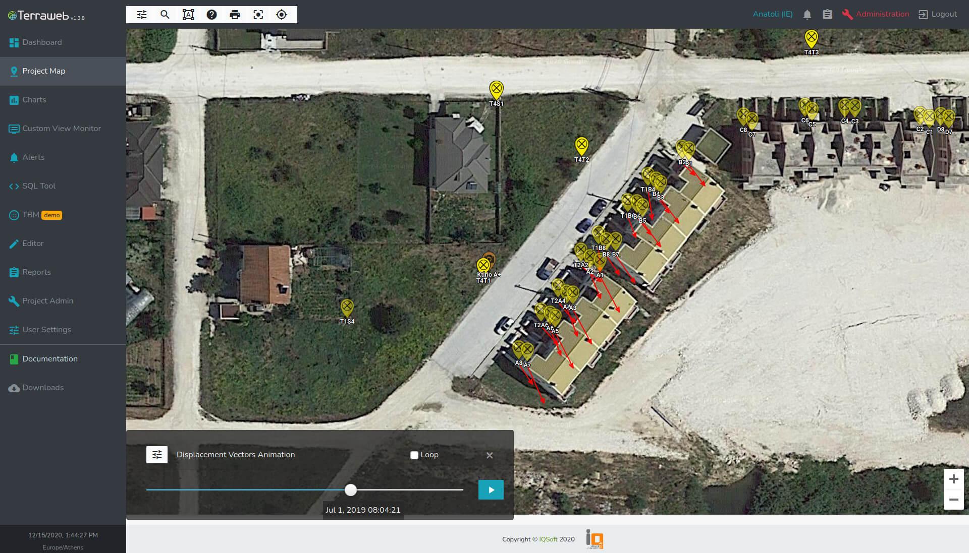 Terraweb Project Map Vectors - IQSoft